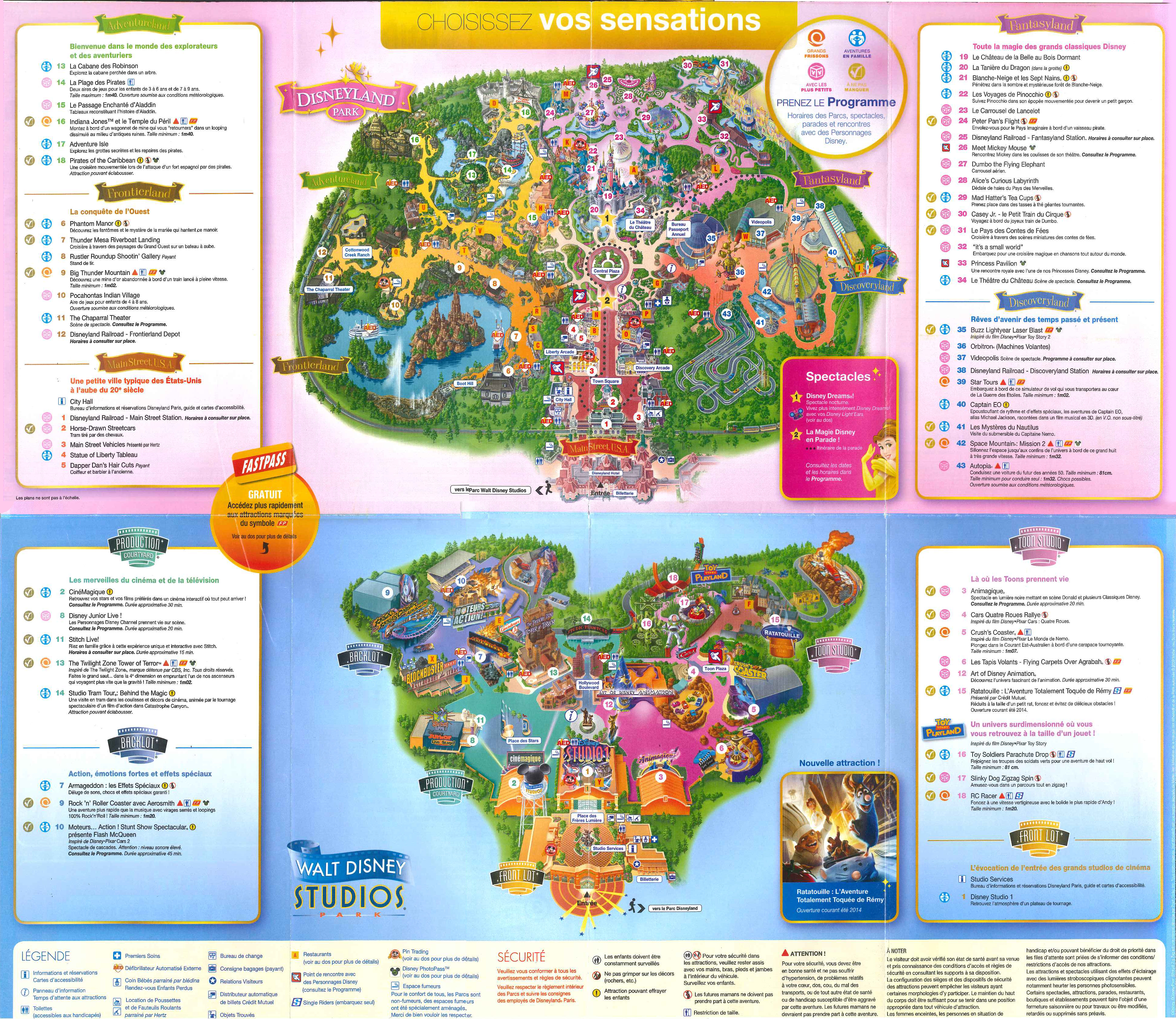 Plan Pdf Disneyland Paris le Plan de Disneyland Paris à