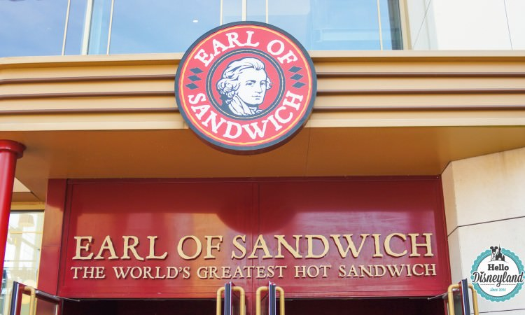 Earl of sandwich Disney