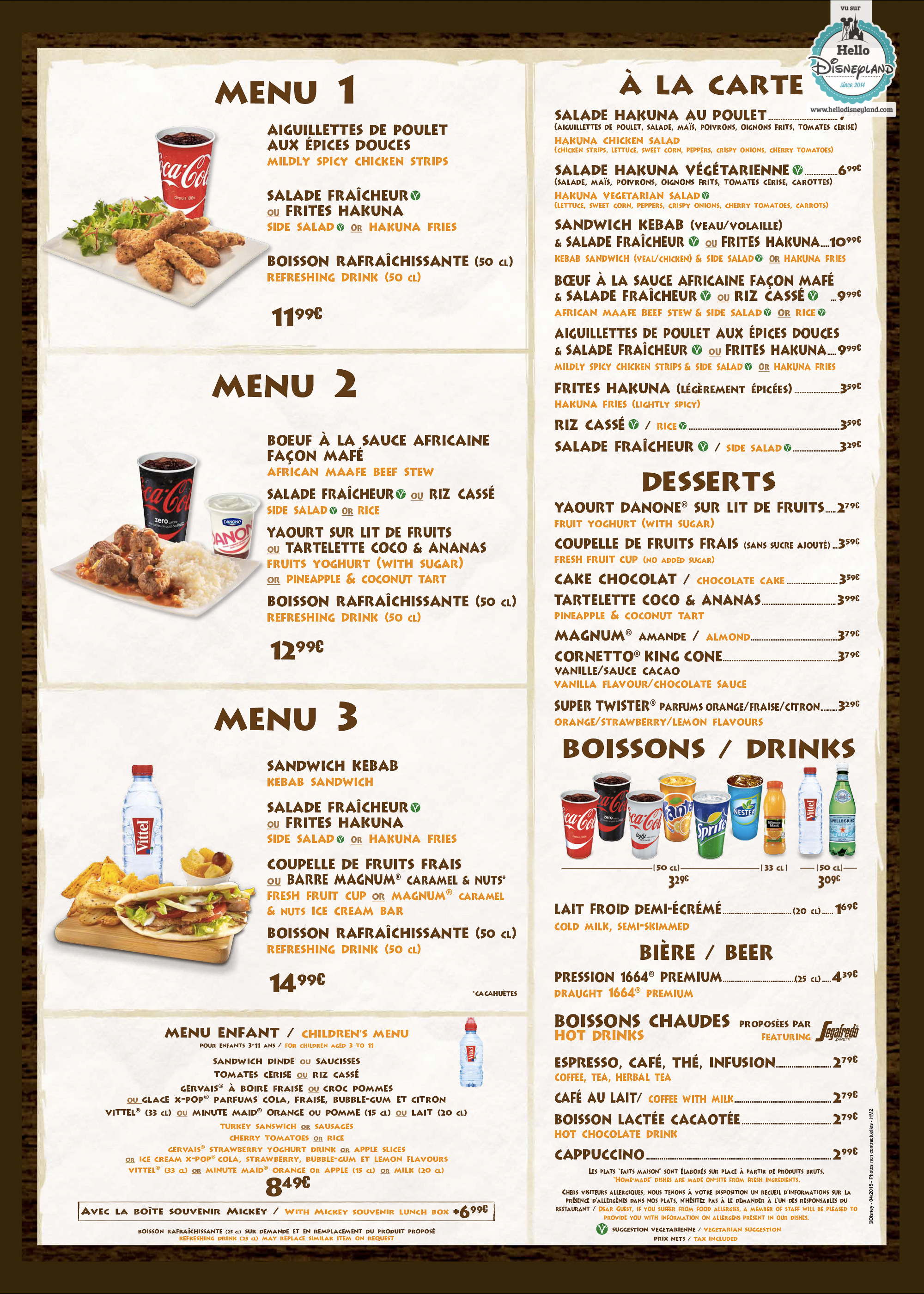 Buzz Coffee House Menu