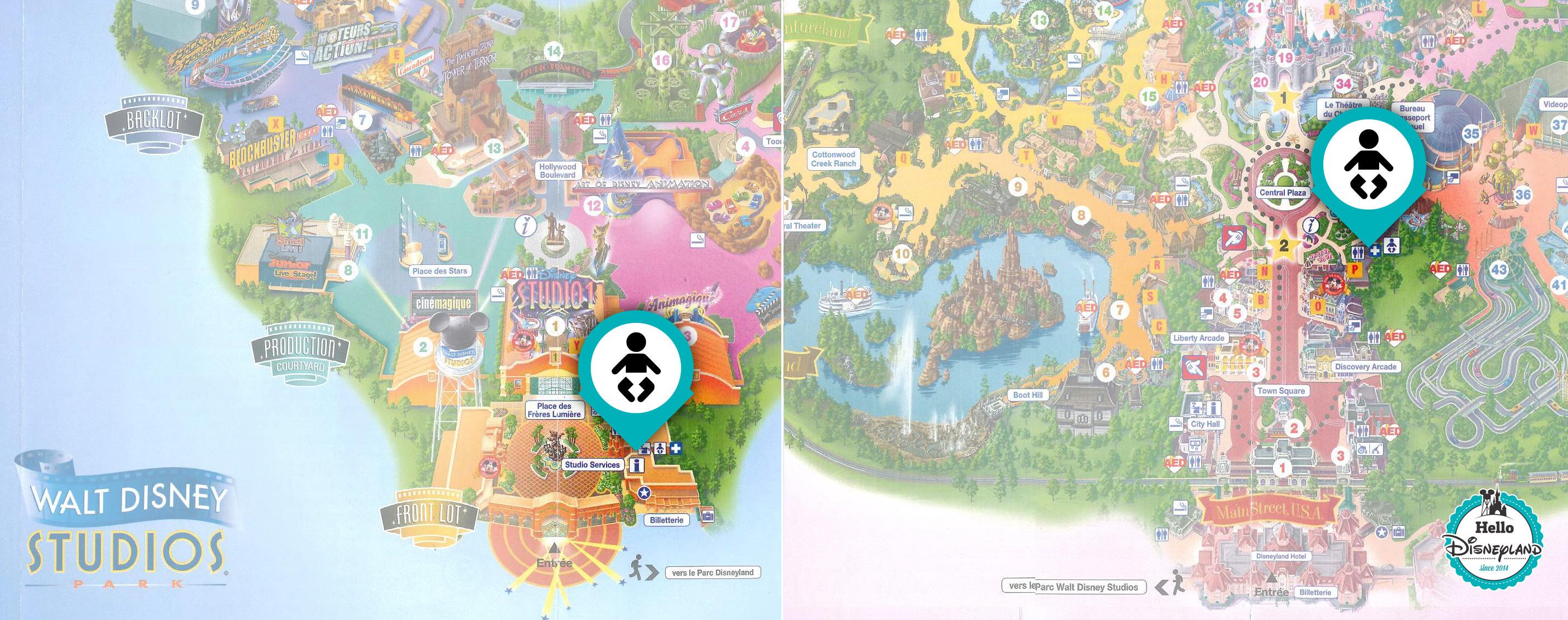 Baby Care - Coin bébé Disneyland Paris : plan