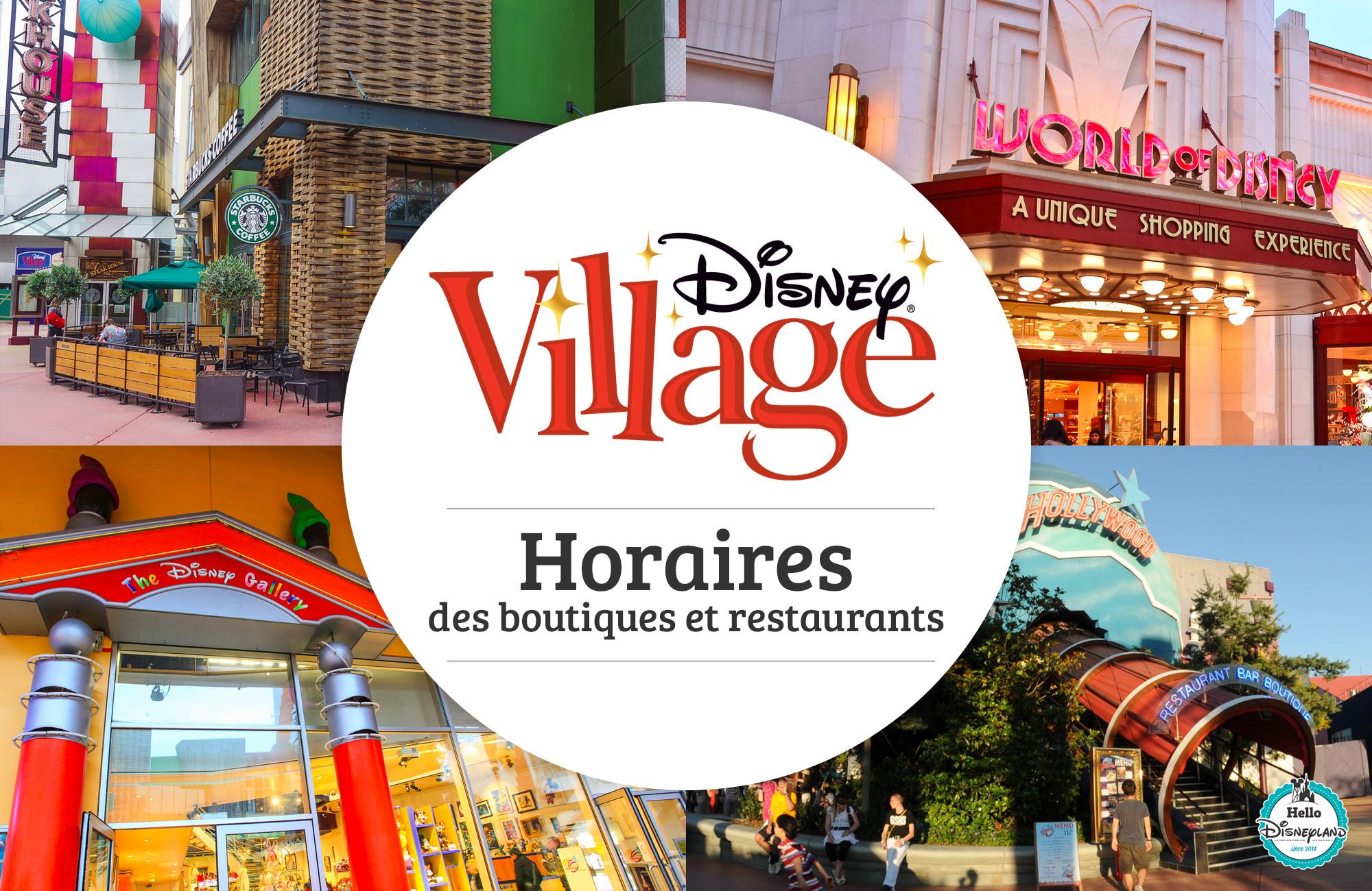 Horaires Restaurants Disneyland Paris
