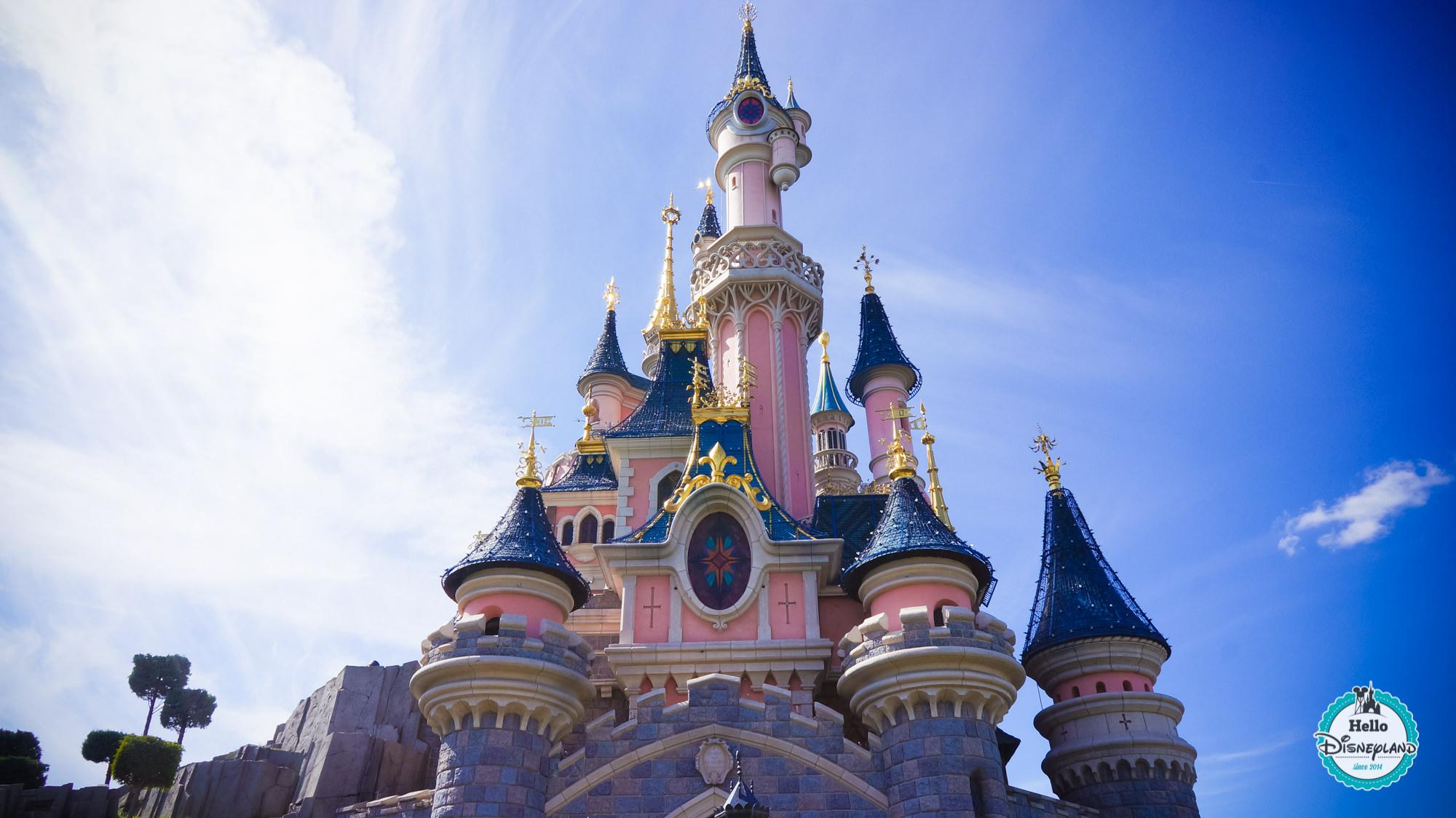 chateau de la belle au bois dormant de disneyland paris