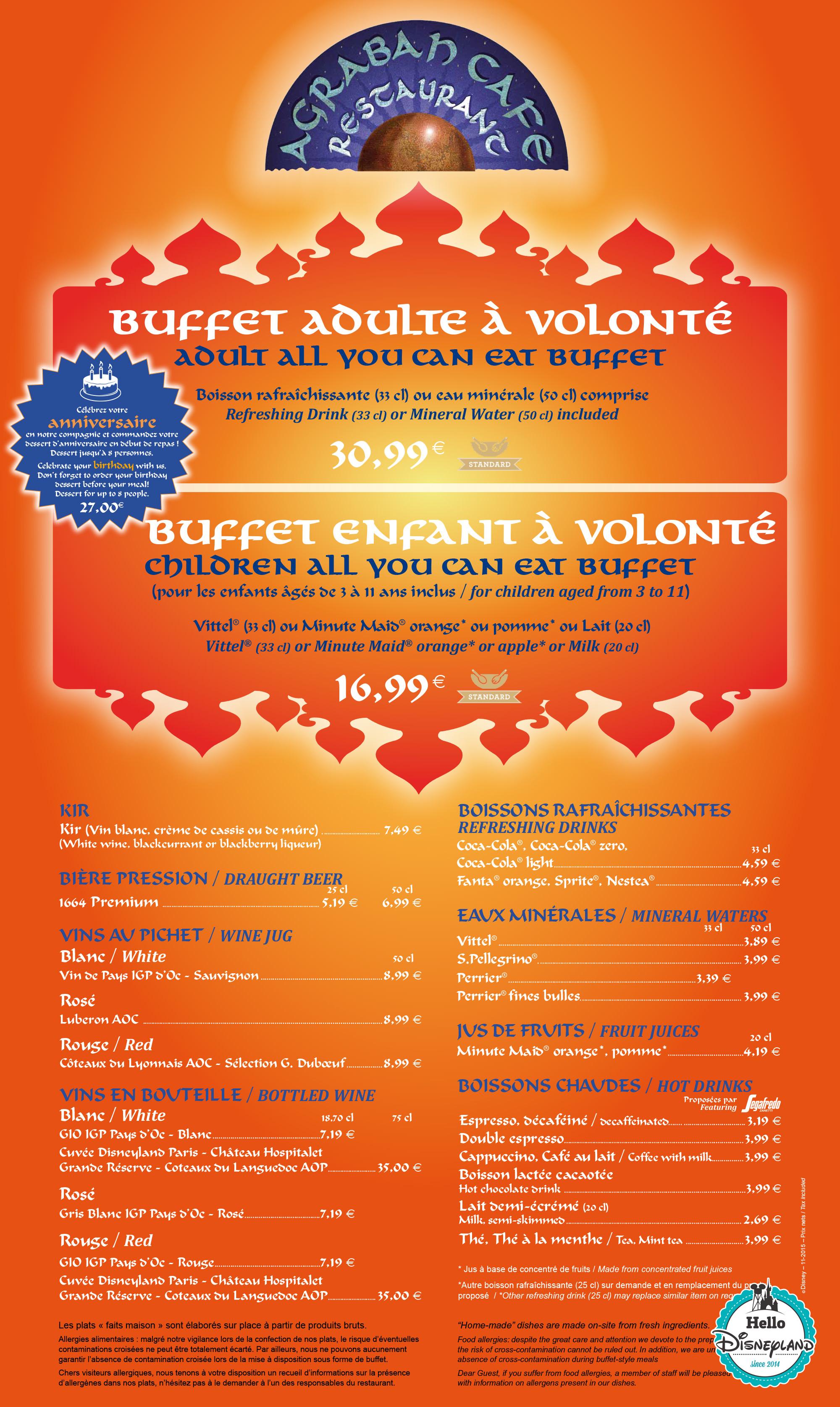 Prix Restaurant Agrabah Caf Ef Bf Bd Disney
