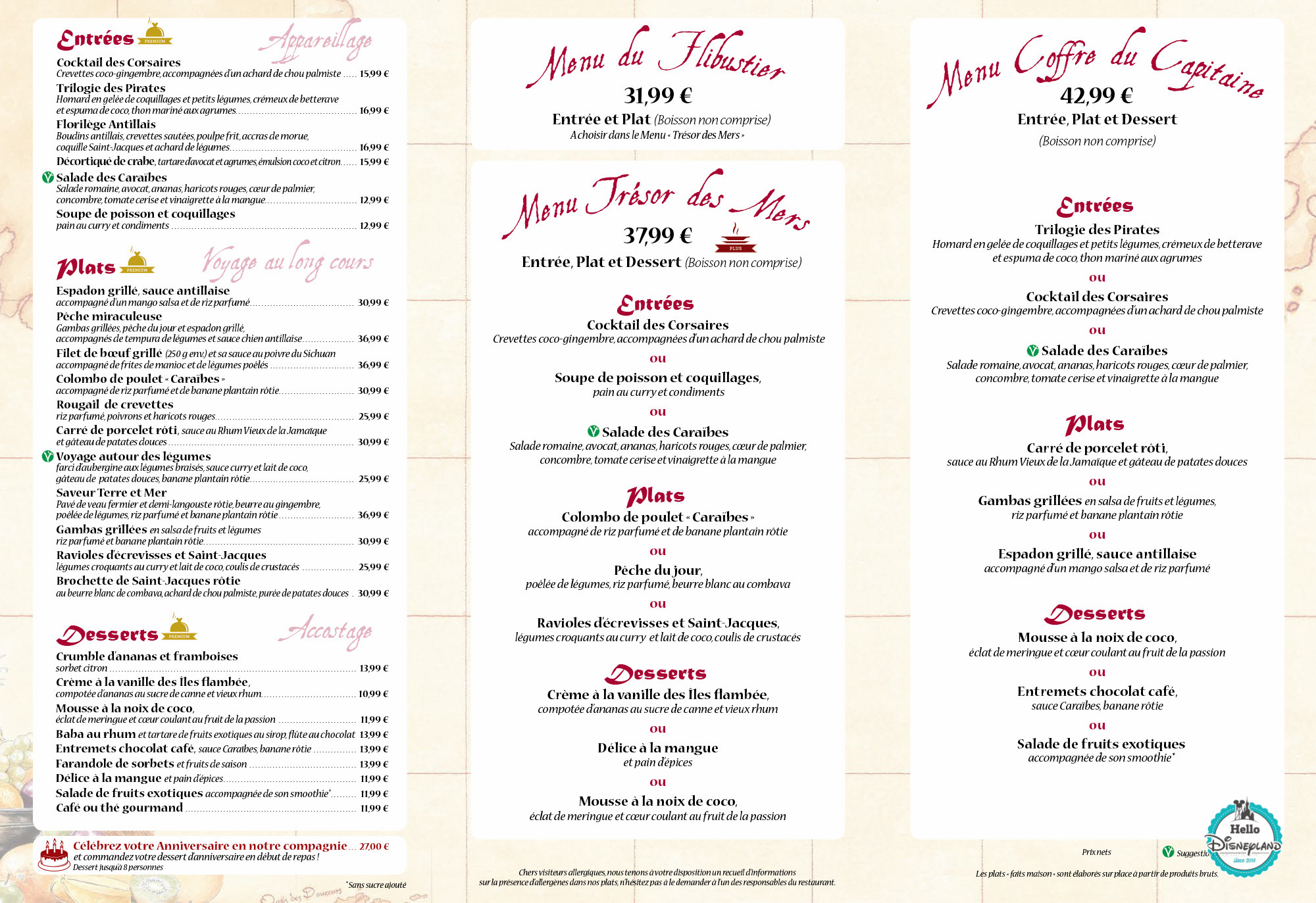Lagon  Restaurant Menu