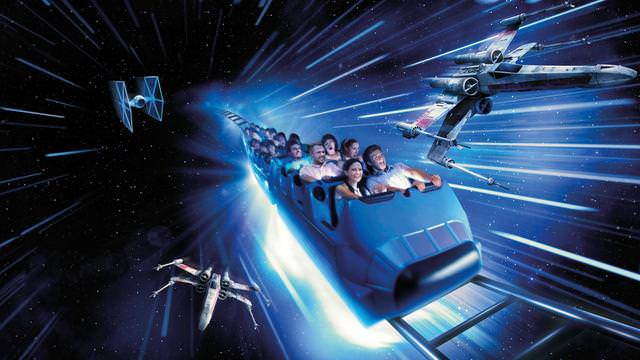 Hyperspace Mountain : star wars theme 25 ans disneyland paris