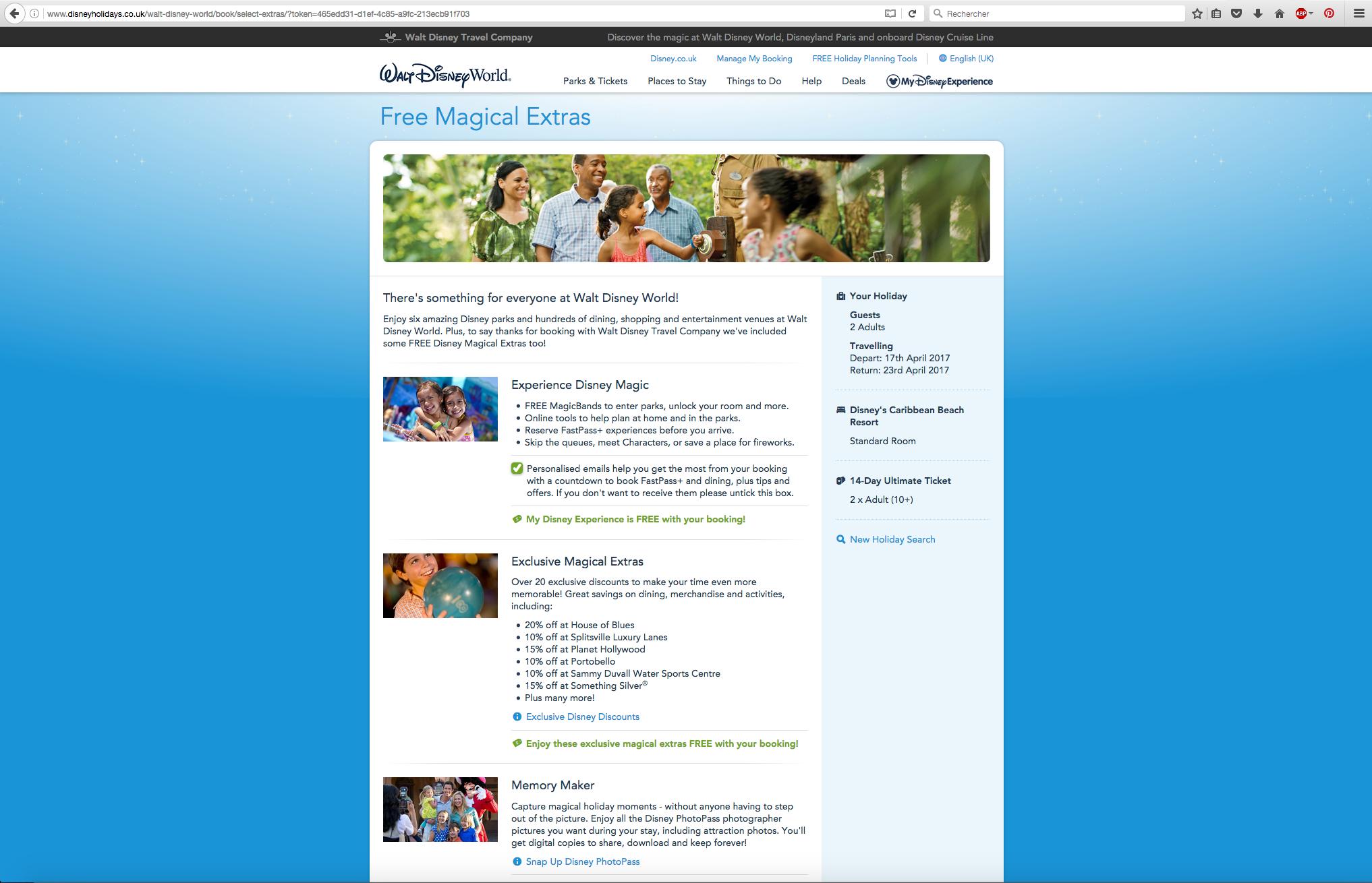 Site UK - Walt Disney World