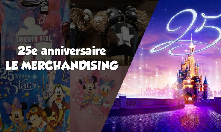 Merchandising shopping 25 ans - Disneyland Paris