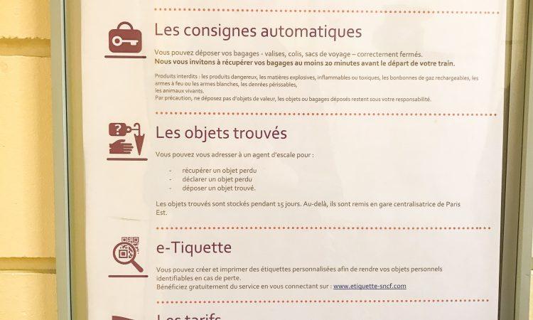 Consigne Gare TGV Disneyland Paris-