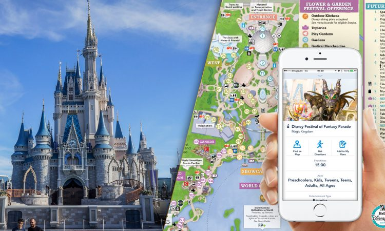 Plans, programme etr application Walt Disney World