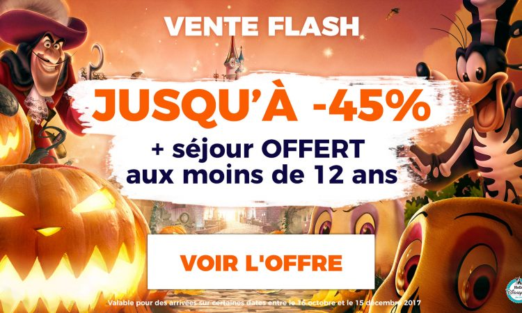 vente flash disneyland paris hallowween 2017
