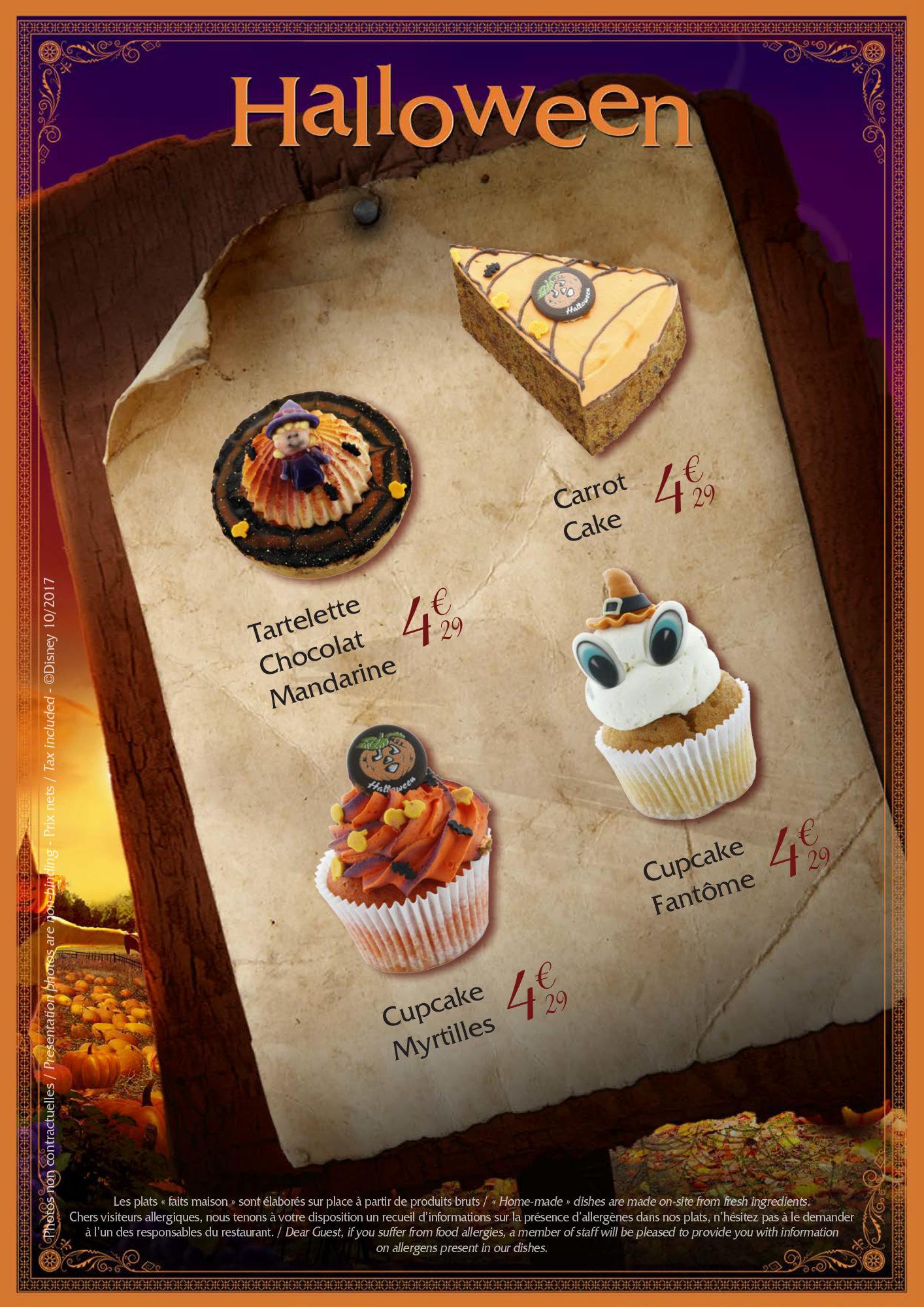 Restaurants Disneyland Paris menu halloween 2017
