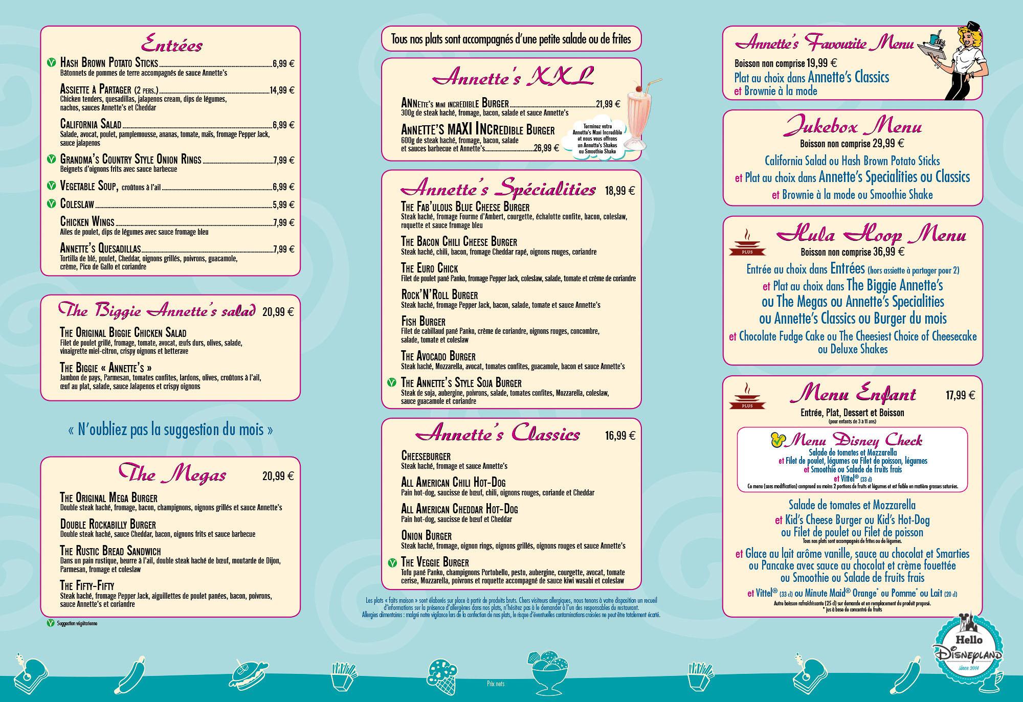 carte de menu restaurant pdf