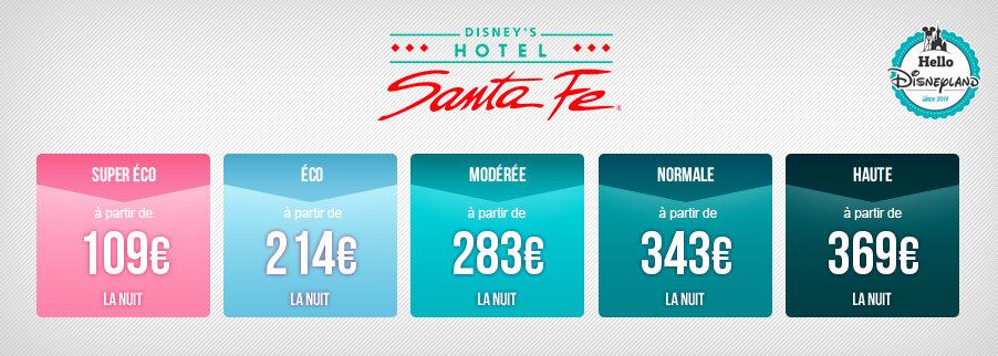 Prix nuit seule Disneyland Paris 2020  - Santa Fe