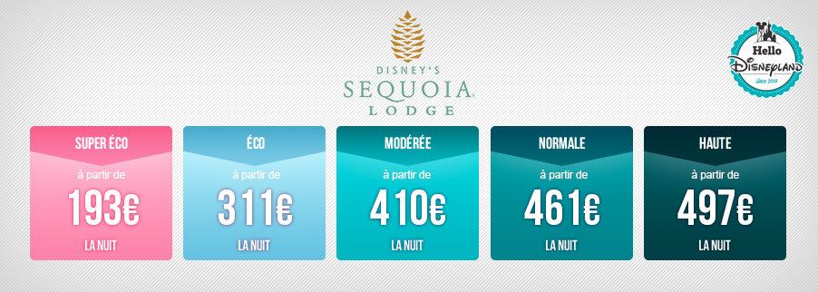 Prix nuits sèches Disneyland Paris 2020  - Sequoia Lodge