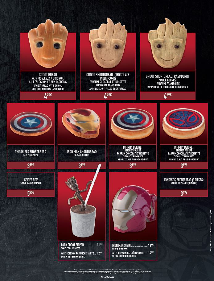 L'été des Super Héros Marvel : les menus Marvel