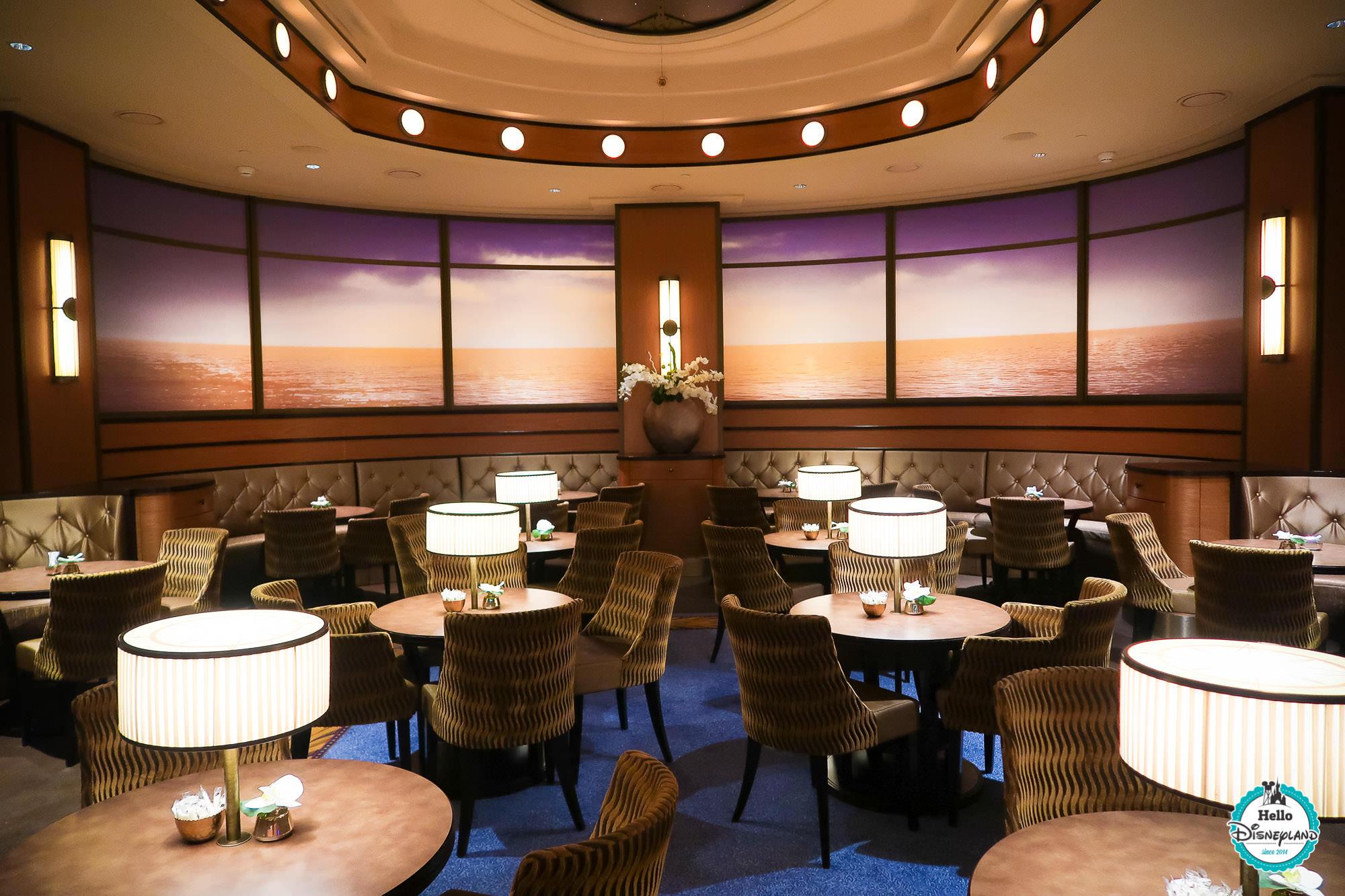 Lounge Compass Club du Newport Bay Club à Disneyland Paris