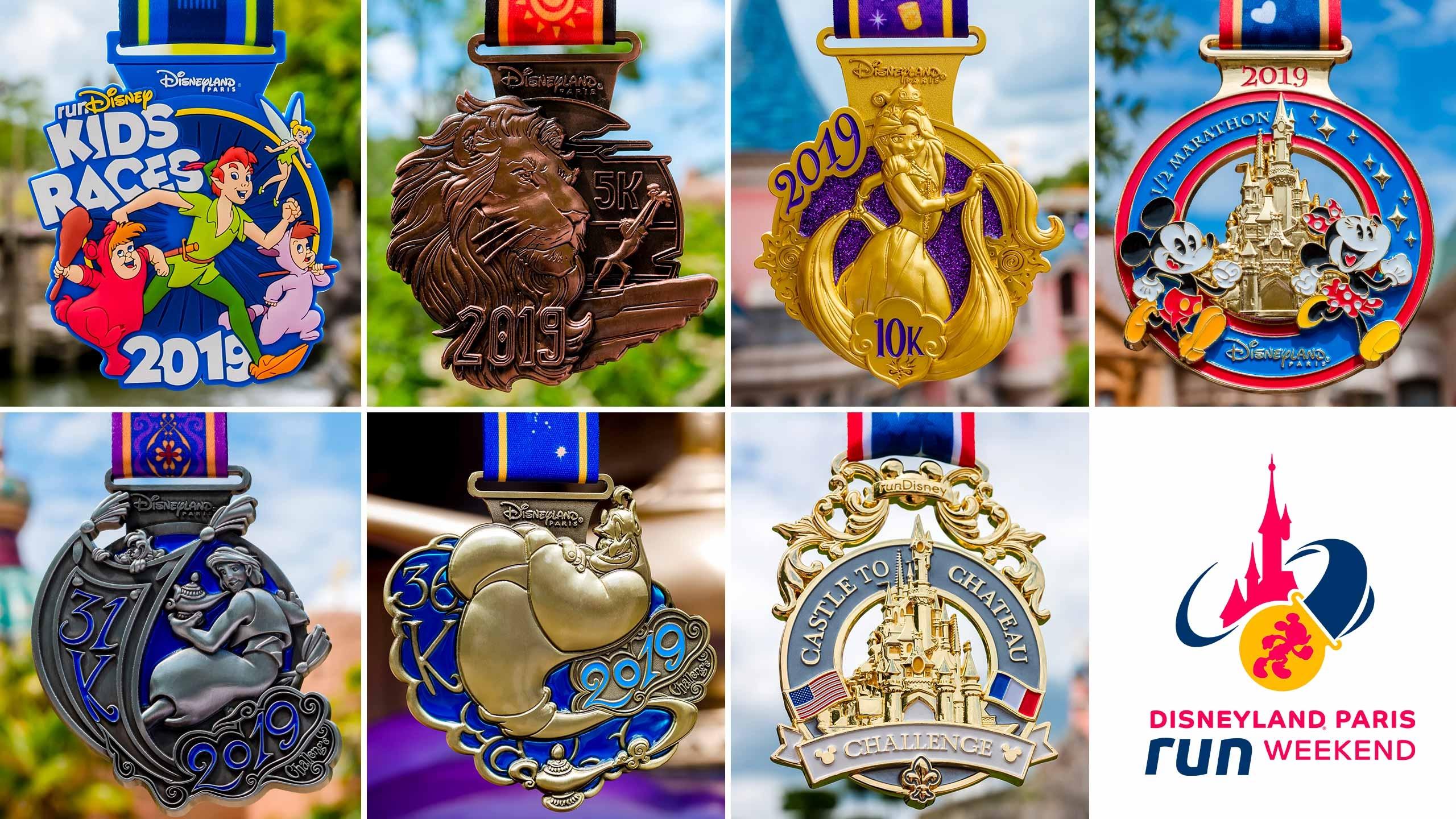 médailles Disneyland Paris Run Weekend