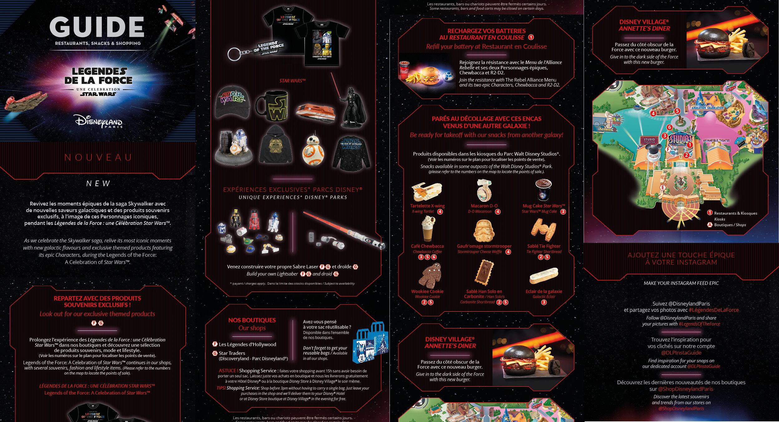 Le guide Food & Shopping Star Wars Disneyland PAris