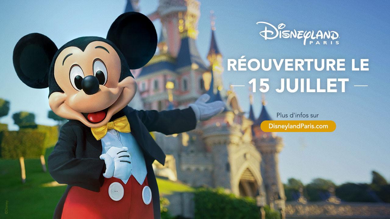 reouverture disneyland paris 15 juillet 2020