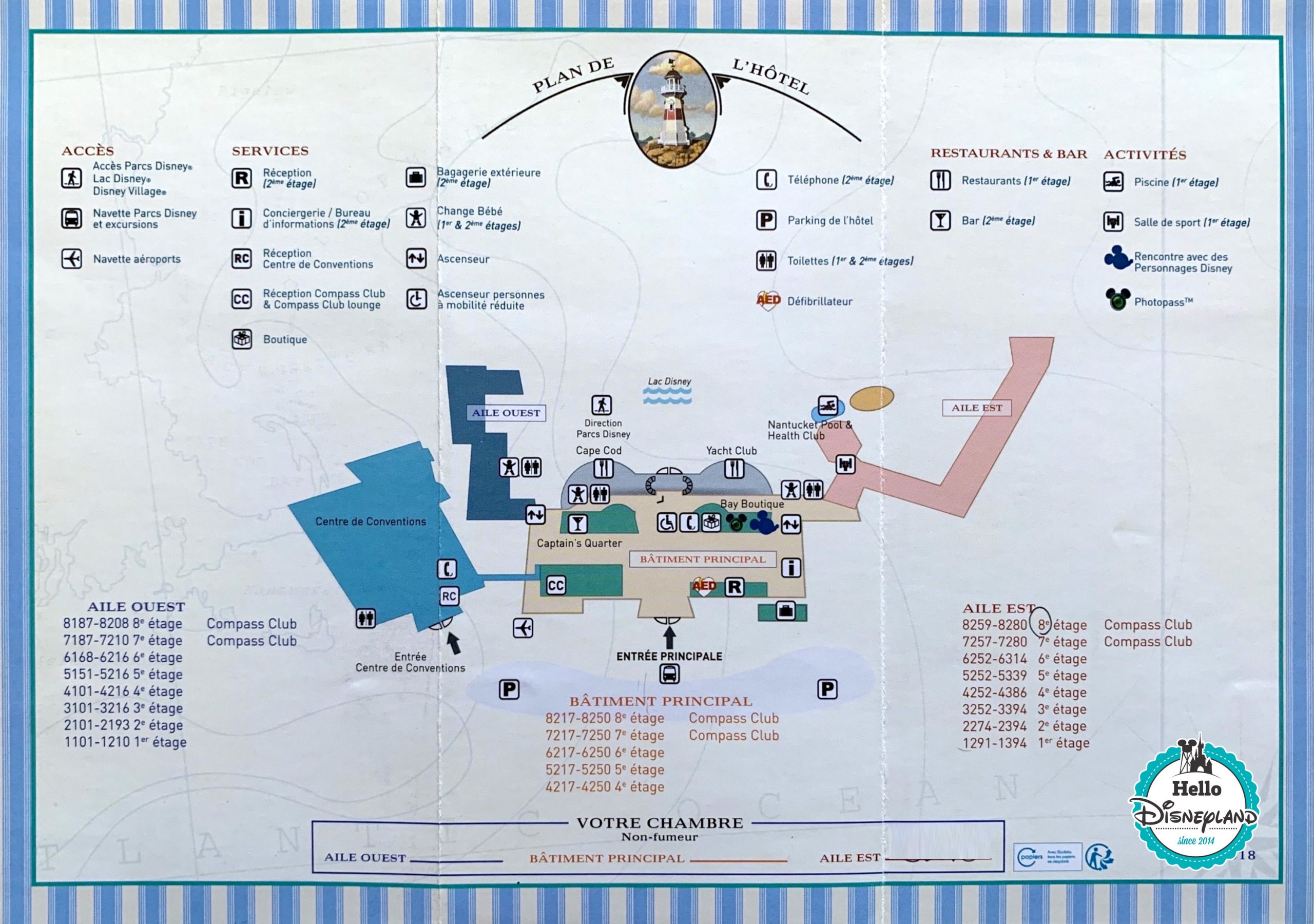plan du Disney's Newport Bay Club