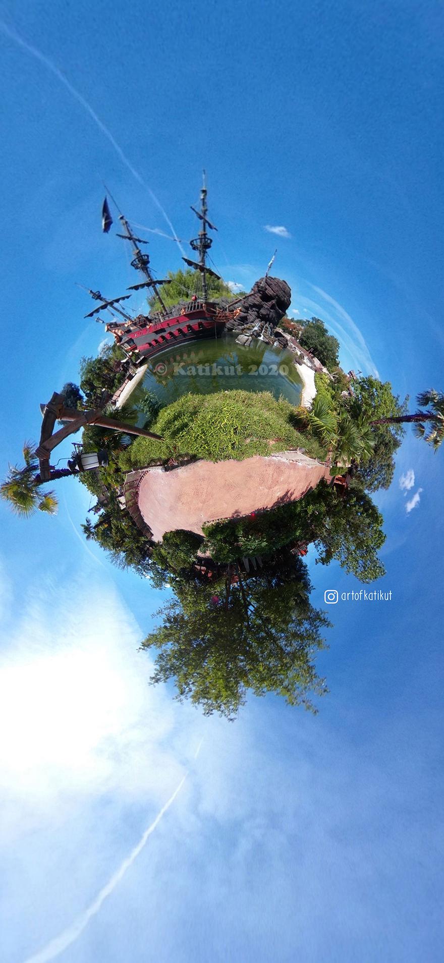 Planete disneyland Paris 360 Fisheye