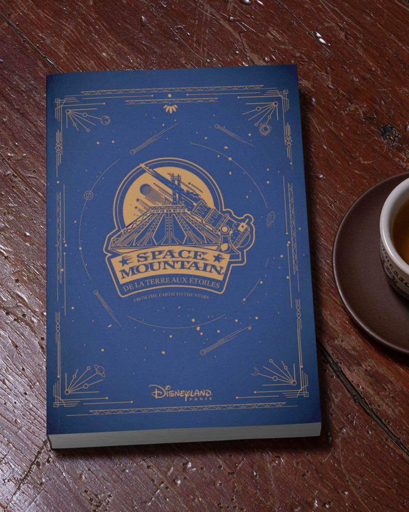 livre collector space mountain de la terre à la lune disneyland paris 2021