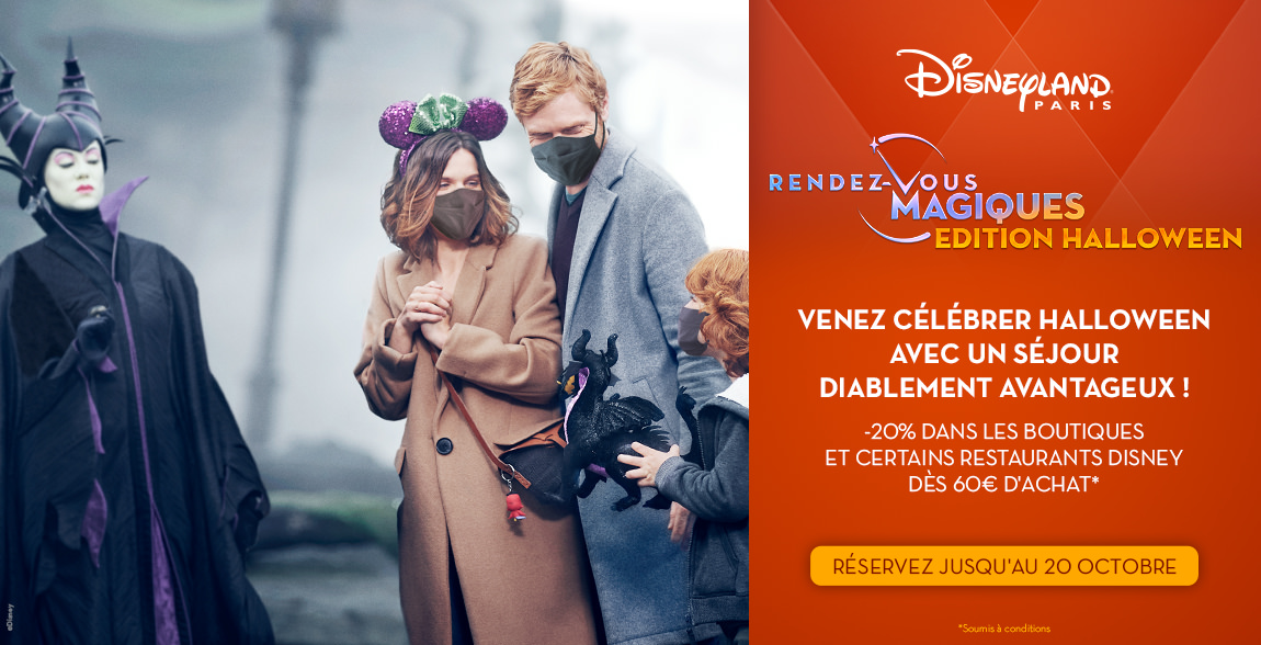 sejour pas cher disneyland paris halloween 2021