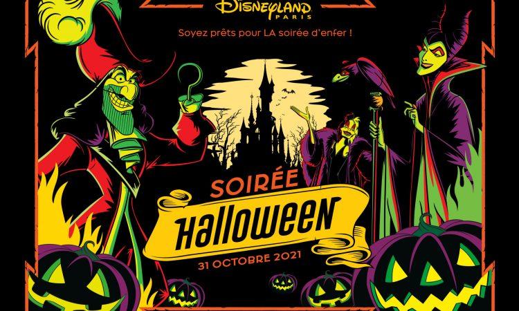 soiree halloween 2021 disneyland paris